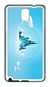 Samsung Galaxy Note 3 Case, Note 3 Case - Special Edition Rubber Case Bumper for Galaxy Note 3 Disney World On Cloud Perfect Fit White Soft Rubber Covers for Samsung Galaxy Note 3
