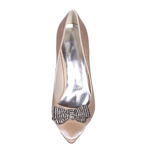 Colores 0608 Y Mujer Boda Zapatos yc Seda De Champagne Disponibles Tacones L Fiesta 26 Para Noche Más xCq6Hnwx0