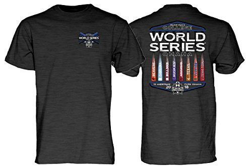 College Tee World Series - Blue 84 2018 NCAA College World Series 8 Team Youth Gray T-Shirt (L)
