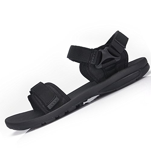 Men's slip Shoes EU42 Men's Shoes Color Black Beach Shoes Breathable CN43 Non 5 Cn44 UK8 Men's Simple eu43 MAZHONG Sandals Casual Uk9 Black 8KZxwEHq7y