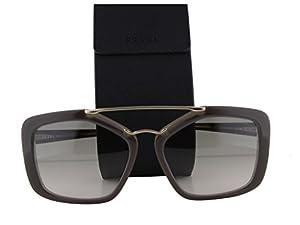 Prada PR24RS Sunglasses Opal Brown Beige w/Light Brown Gradient Light Green Lens UED-3H2 PR 24RS For Women