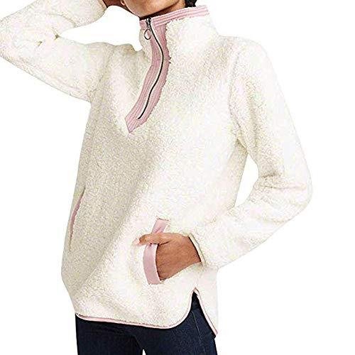Chaqueta Con Naturazy Algodón Lana Outwear Beige Cálida Suéter Cremallera Sudaderas De Mujer Capucha Largo Abrigo Cardigan Invierno Parka WaYIqnp
