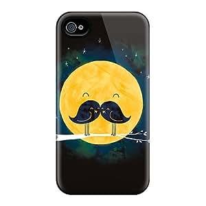 XiFu*MeiDurable Case For The Iphone 4/4s- Eco-friendly Retail Packaging(mustache Bird Moon)XiFu*Mei