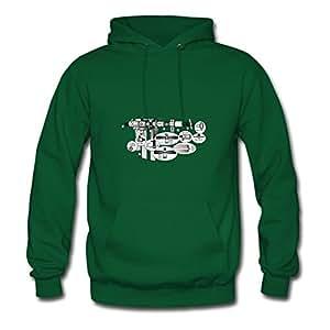 Satellite Diagram Custom X-large Sweatshirts Women Cotton For Green