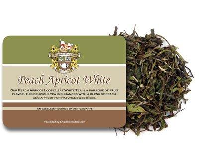English Tea Store Loose Leaf, Peach Apricot White Tea, 2 Ounce