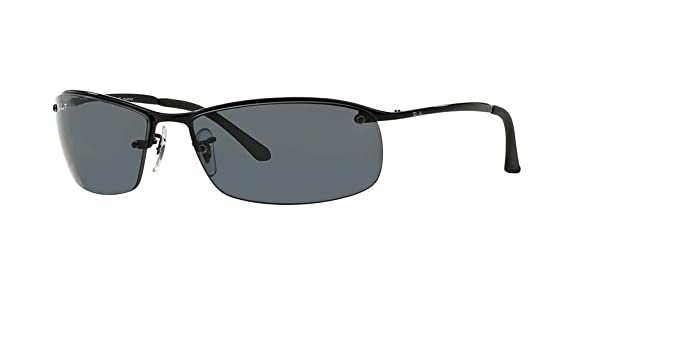 e84a56a707b391 Ray-Ban RB3183 002 81 63M Black Grey Polarized Sunglasses for Men