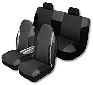 auto expressions 804302 highland big truck 3 piece black seat cover kit by auto. Black Bedroom Furniture Sets. Home Design Ideas