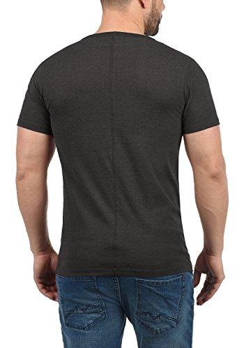 Grandad solid Melange Uomo Maglietta Grey Con T shirt Da Collo A 8288 Dorian Dark Maniche Corte rYr6wqP8g