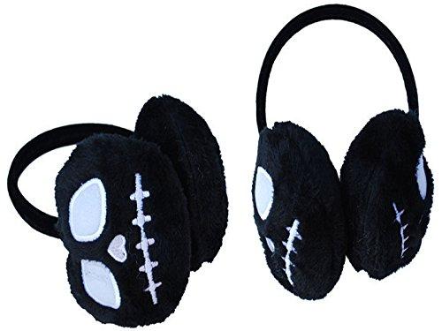 Nightmare Before Christmas Jack Black Fur Warm Gothic Ear Muffs Head Band ()
