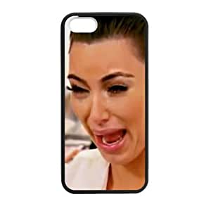 HipsterOne Kim Kardashian Crying Face Funny Case for iPhone 5s,5 (TPU Laser Technology) Custom Phone Cover