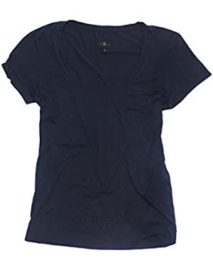 7 For All Mankind Women's Enzyme Washed Tee