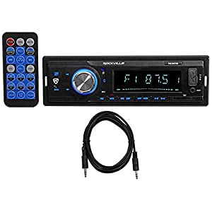 Rockville RDM18 In-Dash Car Digital Media Receiver w/Bluetooth MP3 USB/SD+Cable