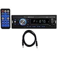Rockville RDM18 In-Dash Car Digital Media Receiver w/ Bluetooth MP3 USB/SD+Cable