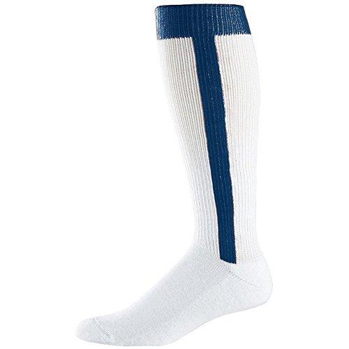 Augusta Intermediate Two-In-One Baseball Sock (Navy, Medium (9-11)) by Augusta