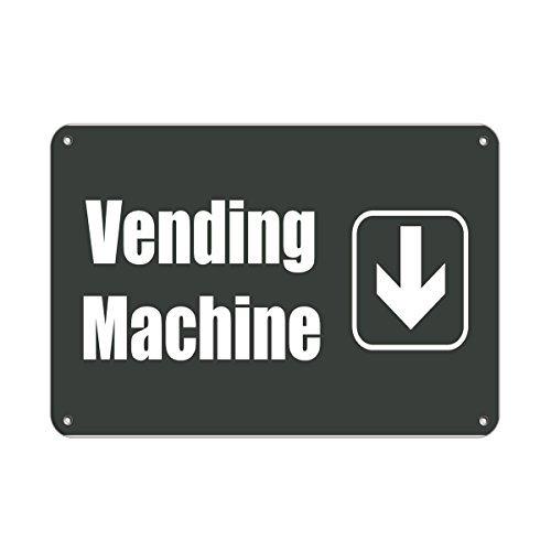 Vending Machine Down Lunch Room And Break Room Aluminum Metal Sign 8x12 inch