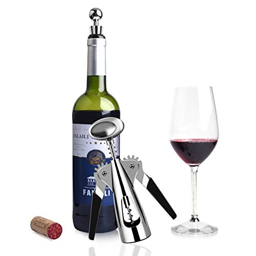 AUNOOL Wing Corkscrew Wine Opener - Premium All-in-one Wine Bottle Opener and Wing Corkscrew, Comfortable to Grasp and Effortless to Remove Any Size Cork Quickly and Efficiently with Fancy Package by AUNOOL (Image #3)
