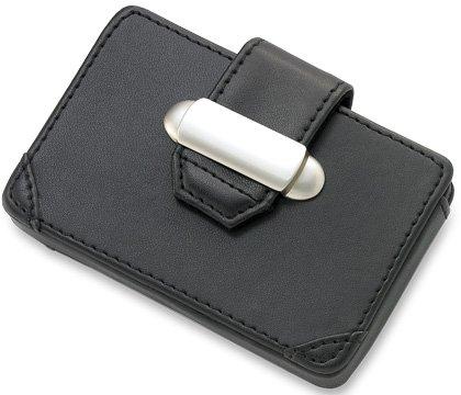 Aeropen International CC-13 Black PU Leatherette Card (Black Leatherette Card Case)