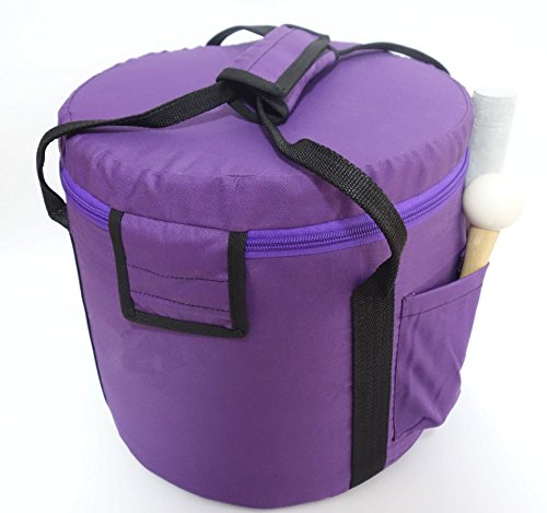 35,6/cm Cvnc Violet Couleur Mallette de transport rembourr/ée pour bol chantant en cristal 35/cm