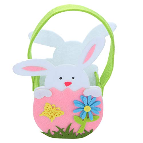 - HHmei Easter Bunny Gift Bag Rabbit Candy Bag Creative Present Home Accessory Bunny Gift Bag Rabbit Candy Bag Creative Gift Home Accessories (Pink)