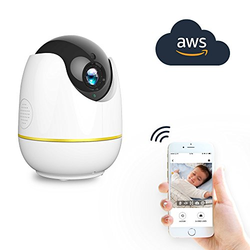 Wireless IP Camera, Compatible with Alexa Echo Show, Netvue 720P HD Home Security wifi Camera with Motion Detection P/T/Z,TF Card Record,2 Way Audio and Night Vision, Baby Monitor
