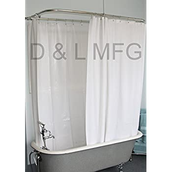 black and white clawfoot tub. Extra Wide Vinyl Shower Curtain for a Clawfoot Tub white with Magnets 180  X Amazon com