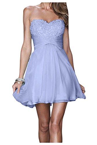 Lilac Cocktailkleider Partykleider Abendkleider La Promkleider Mit Gelb mia Spitze Kurzes Braut Anmutig Festlichkleider wSFF7HqBn