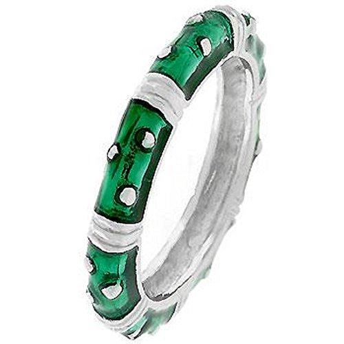 Enamel Stacker (WildKlass Marbled Dark Green Enamel Stacker Ring)