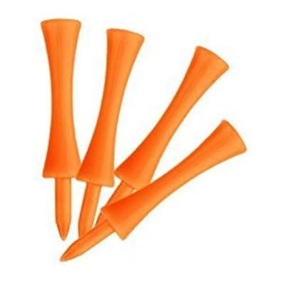 NUOLUX 100pcs Golf Tees Step-Down Tees 70mm - Orange