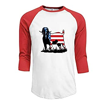 XYMYFC-E Colorrado Boer Goat Flag Adult Mens Long Sleeve T-Shirt