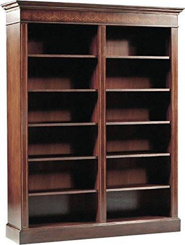 Scarborough House Bookcase Mahogany Elegant Marquetry - Accents Marquetry
