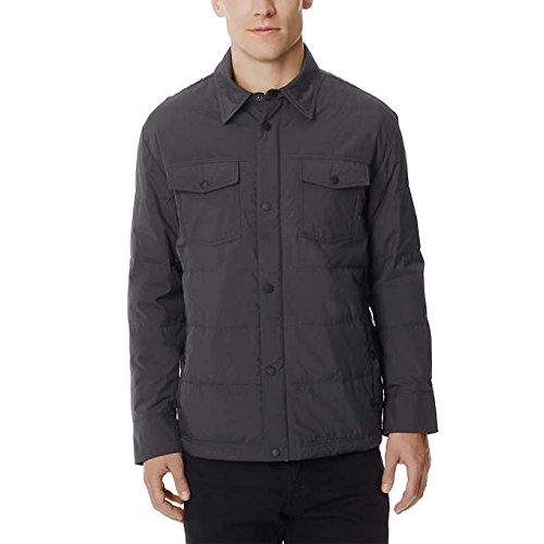 32 DEGREES Men's Packable Down Shirt Jacket -Iron-XXL