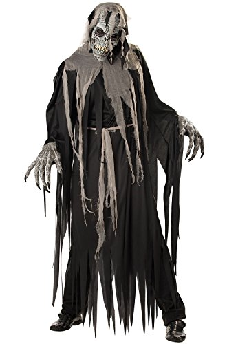 (California Costumes Men's Ani-Motion Masks - Crypt Crawler Adult, Black/Grey,)