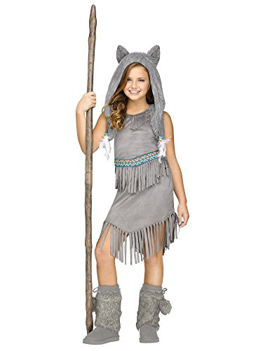 Wolf Kids Costumes - Wolf Dancer Native American Indian Kids Costume
