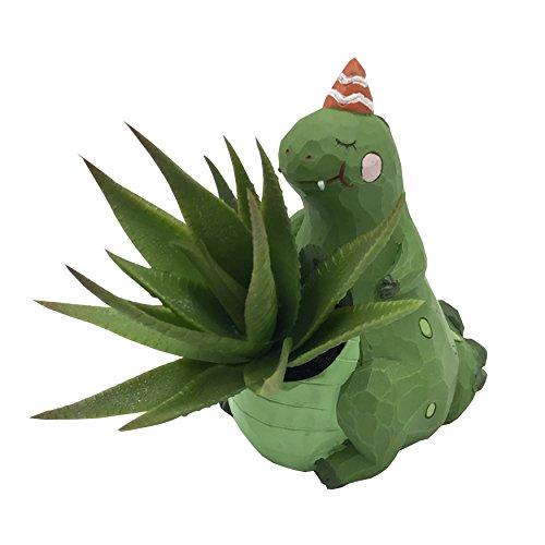 Cuteforyou Cute Animal Shaped Cartoon Home Decoration Succulent Air Plant Holder Flower Pots (Small Dinosaur)
