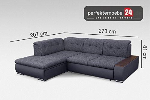 Sofa Couch mit Schlaffunktion Eckcouch Polstergarnitur Ecke Wohnlandschaft TOGO (vienna)