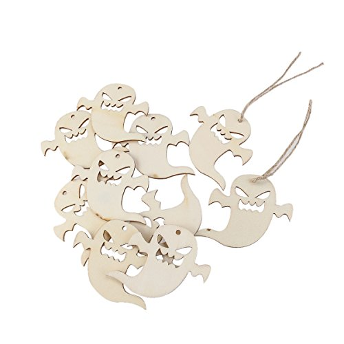 Angel Christmas - 10pcs Wooden Embellishments Halloween Decoration Snicker Ghost Pattern Pendant With Hemp Ropes - Tombstones Door Motion Home Body Vintage Activated Spider Scary Kitchen]()