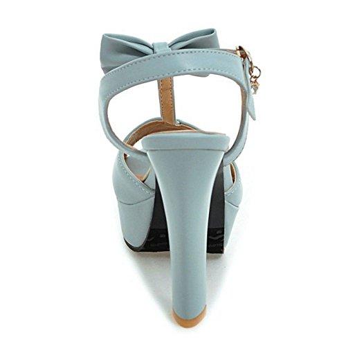 Mode Piattaforma blue 3 Sandali Zanpa Bow Donna H5qpvp