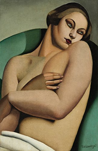Tamara de Lempicka - The Last Nude, Size 16x24 inch, Poster art print wall (Nude Art Poster)