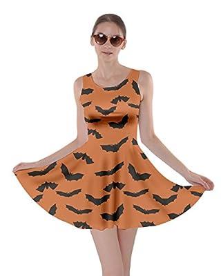 CowCow Womens Halloween Witches Cats Bats Skull Ghost Pumpkin Monster Skater Dress, XS-5XL