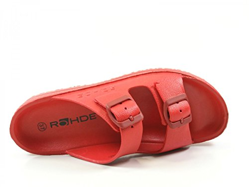 Rohde Spiaggia 7101 Zuecos para mujer Rot