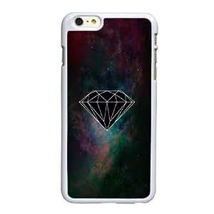 Diamond Q6X17M2OW funda iPhone 6 6S más la caja de 5,5 pufunda LGadas funda U7MISN blanco