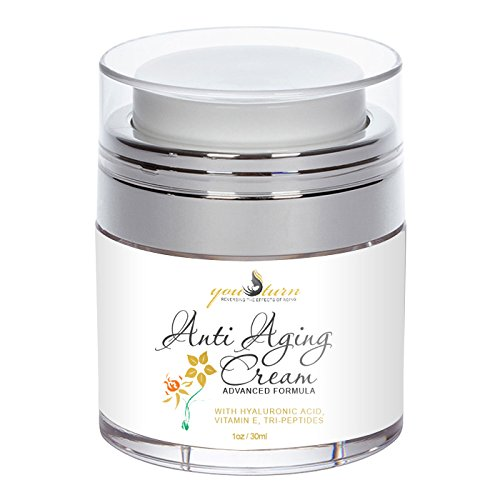 Anti Aging Face Cream & Wrinkle Cream - Perfect Facial Moisturizer For Day & Night Cream - Proprietary Formula with Hyaluronic Acid & Tri-Peptides To Support Skin Tightening, Brightning, Anti Wrinkl ()