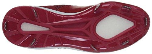 Scarpa Da Baseball Adidas Uomo Man Freak X Carbon Mid, Potere Rosso / Bianco / Argento Metallizzato, 12 Medio Noi