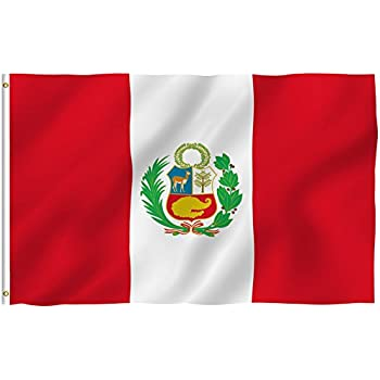 Amazon.com : Peru National Flag 3 x 5 NEW 3x5 Large Peruvian Banner