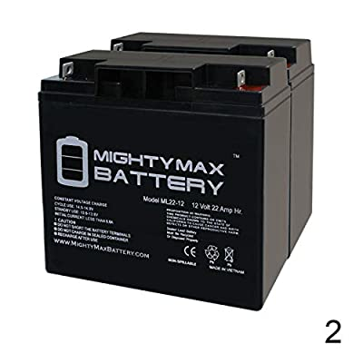 Mighty Max Battery ML22-12 - 12V 22AH Rascal 320, 500 T, 500T Battery - 2 Pack Brand Product: Electronics