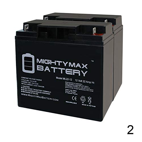 Mighty Max Battery 12V 22AH SLA Battery for Pride Mobility Go-Go Elite - 2 Pack Brand Product (Mobility Pride Batteries)