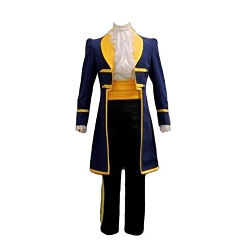 MCS-JP [Cosplay Costume Beauty and the Beast] Prince Blue Halloween Costume (Size L)
