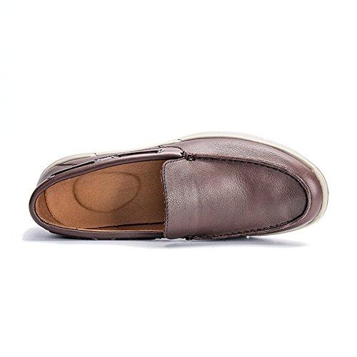 Desgaste para de Primavera de de Zapatos Negocios Cruzados Marrón Exteriores Casuales Zapatos para Hombres PwBz8Y