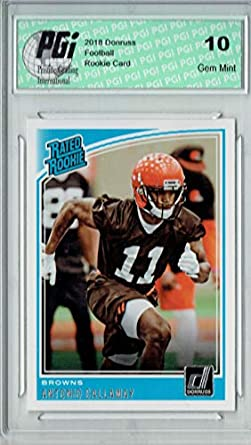 Amazon.com  Antonio Callaway 2018 Donruss Football  341 Rated Rookie ... 63af08179