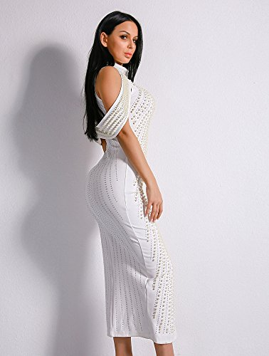 Missord Missord Damen Cocktail Kleid Missord Weiß Kleid Damen Cocktail Weiß Damen YYwTqr